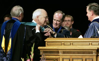 Cheney clothed in the black robes of a false priesthood–A day that will live in infamy